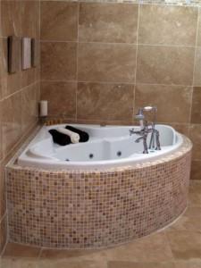ванна из мозаики