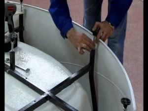 Этапы сборки акриловой ванны