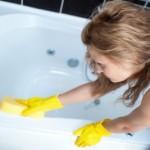 Этапы чистки акриловой ванны