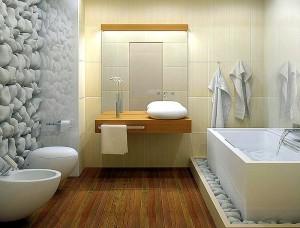 Сочетание цветов в ванной